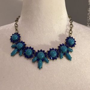 Jcrew Blue statement necklace